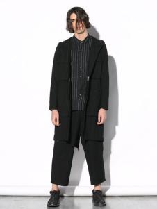 线锁男装黑色外套