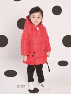 土巴兔童装秋冬新款红色羽绒服