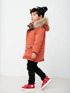 兔子杰罗中童秋冬新款橘色套装