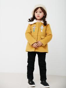 兔子杰罗中童秋冬新款亮黄套装