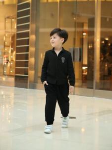 设计师潮牌NNE&KIKI男童黑色卫衣