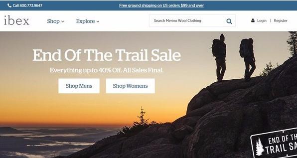 户外品牌Ibex官网开始清仓甩卖 明年2月将停止所有业务