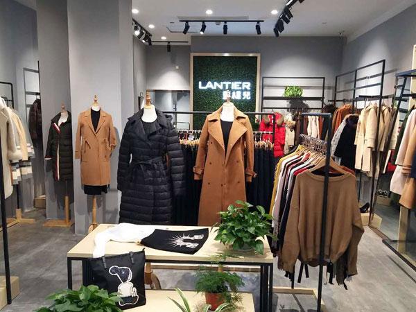 蓝缇儿女装实体加盟店品牌旗舰店店面