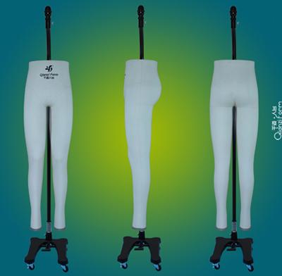 男版裤子试衣人台,男裤打板设计模特