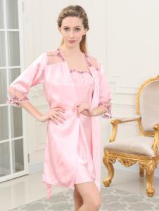 100%女人新款粉色家居服