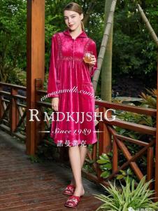 诺曼蒂克家居服秋冬新品紫红套装