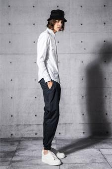 纽上男装2018白色衬衫