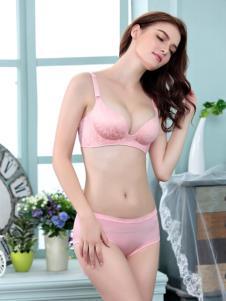 名之品创内衣秋冬新品粉红色套装