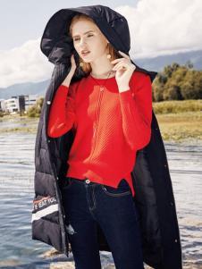 布根香2017黑色羽绒服