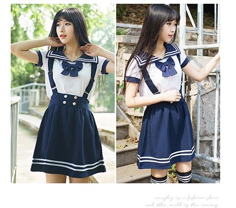 武汉市具有口碑的学生日韩学院风水手服批发 供应日韩校园服饰