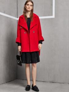 丽芮女装红色韩版大衣