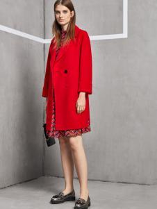 丽芮女装红色大衣