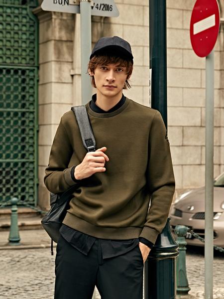 爱迪丹顿2017新款纯色卫衣