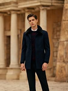 爱迪丹顿2017新款黑色大衣