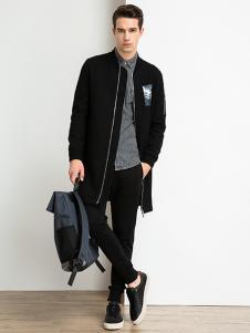 爱迪丹顿男装黑色外套