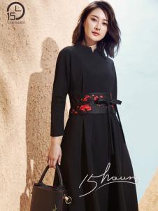15小时场合服饰黑色连衣裙