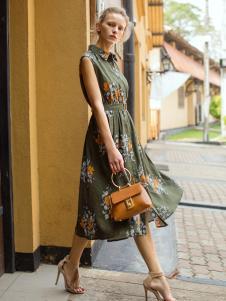 伊纳芙女装春夏新款连衣裙
