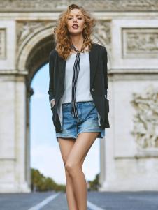 伊纳芙女装春夏新款牛仔短裤