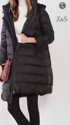 2017年冬装新款黑色羽绒服
