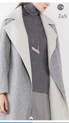 2017年冬装新款浅灰色外套