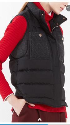 2017年冬装新款黑色背心
