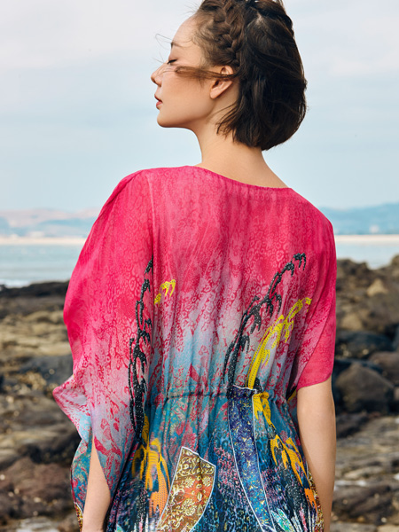 2018印巴文化精美印花连衣裙