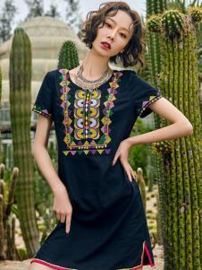 2018印巴文化精美刺绣小黑裙