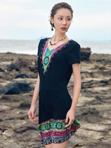 2018印巴文化女装精美小黑裙