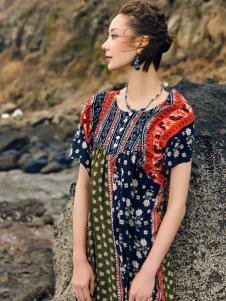 印巴文化女装18复古唯美连衣裙