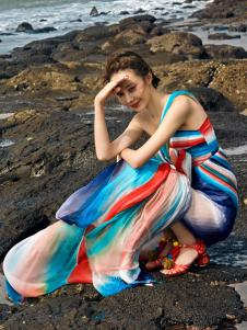 2018印巴文化唯美优雅连衣裙