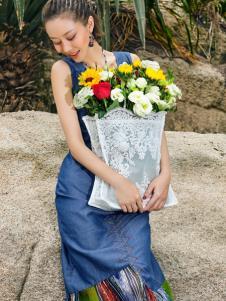 2018印巴文化优雅时尚连衣裙