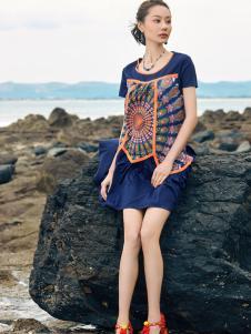 2018印巴文化精美刺绣连衣裙