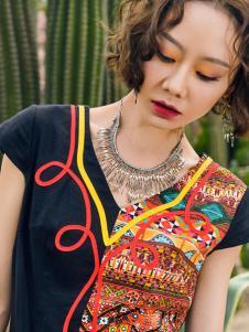 2018印巴文化拼接刺绣上衣