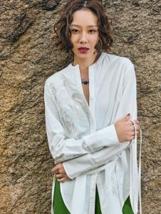 2018印巴文化文艺白色衬衫