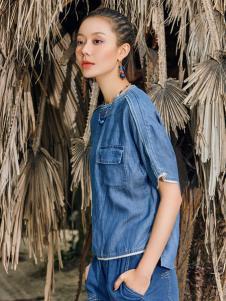2018印巴文化女装简约牛仔套装