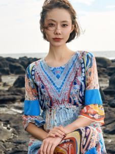 2018印巴文化异域风情连衣裙