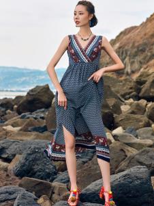 2018印巴文化女装波西米亚连衣裙