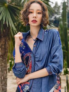 2018印巴文化精美刺绣牛仔衬衫