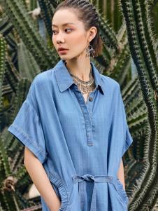 2018印巴文化牛仔衬衫裙