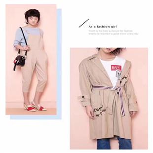 村上春时尚韩版春款风衣品牌折扣女装一手货源