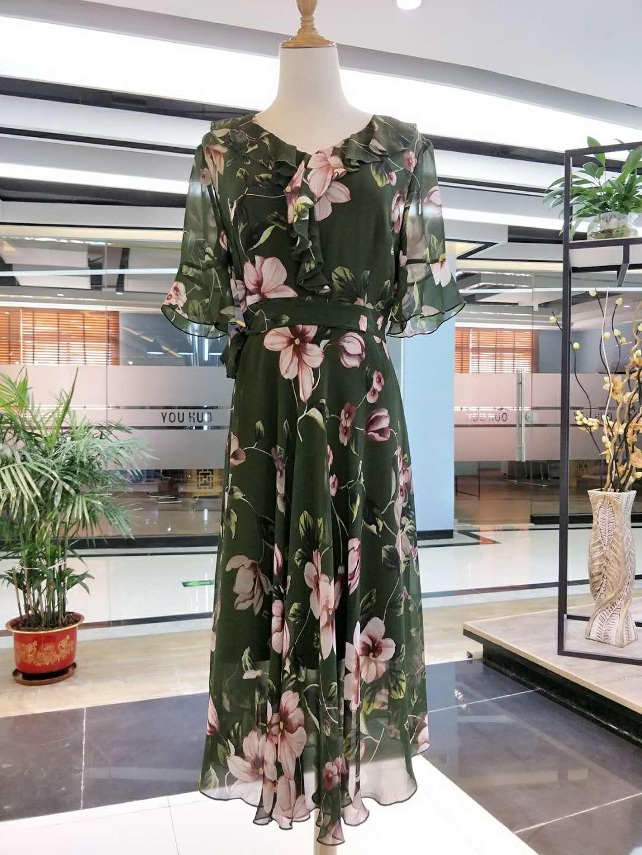 新款女装 梵姿夏装连衣裙套装女装走份批发 品牌折扣店货源