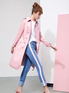 YDG春装新款粉色外套