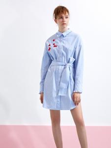 YDG春装新款蓝色衬衫