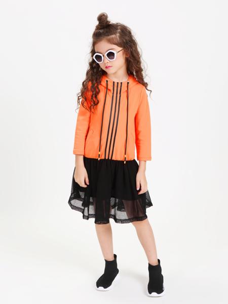 童戈2018春夏新款橙色卫衣