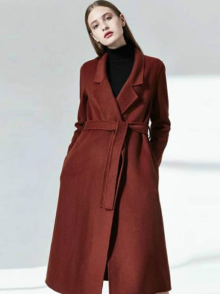格蕾斯女装新款焦糖色大衣