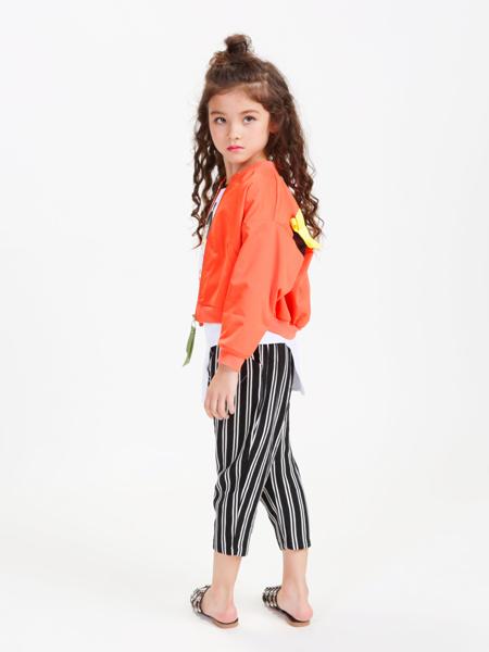 童戈2018春夏新款橙色外套