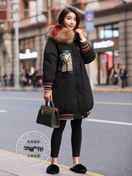 格蕾斯女装新款黑色羽绒服