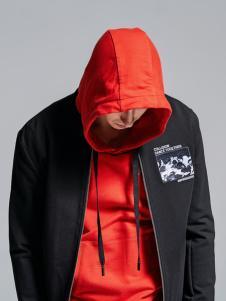 Fivecaman法卡蔓新款红色卫衣