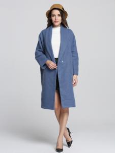 Fivecaman法卡蔓新款蓝色大衣