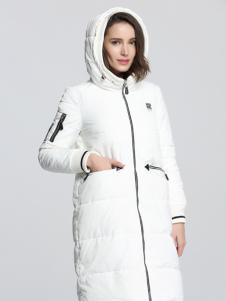 Fivecaman法卡蔓新款白色羽绒服
